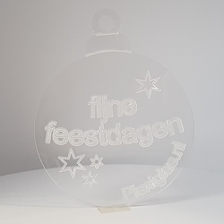 plexiglas kerstbal