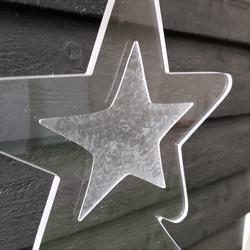 plexiglas kerstboom ster