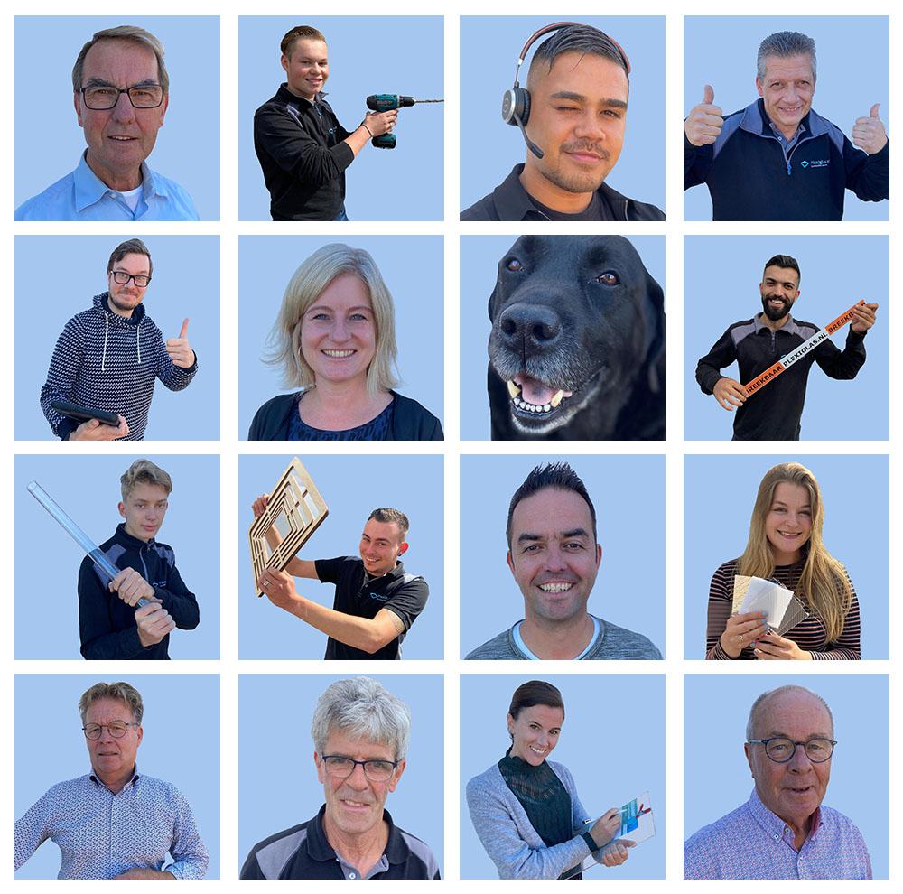 Teamfoto plexiglas team