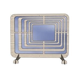 Plexiglas luxe spatscherm 80 x 60 cm voor