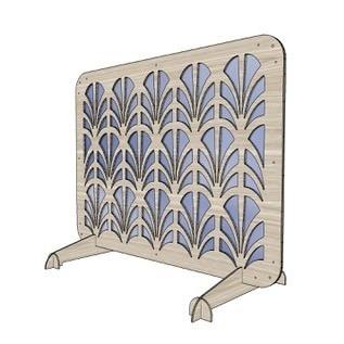 Plexiglas luxe spatscherm 80 x 60 cm rechts