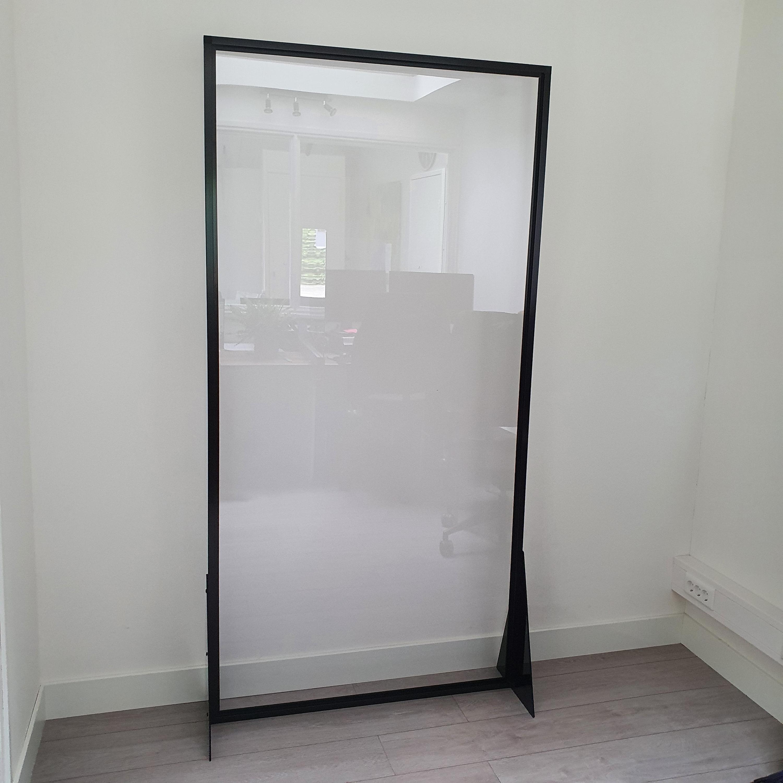 plexiglas spatscherm in aluminium profiel 100x200 cm